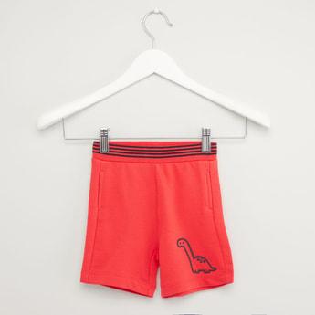 Dinosaur Print Shorts with Elasticised Waistband