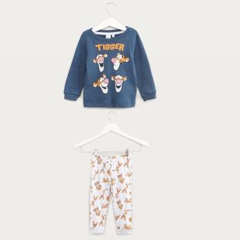 Tigger Printed T-shirt and Pyjama Set