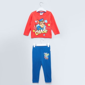 Paw Patrol Printed Long Sleeves T-shirt with Printed Jog Pants