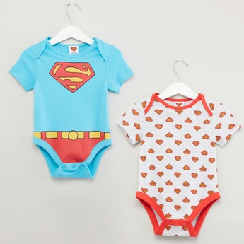 Set of 2 - Superman Printed Bodysuit