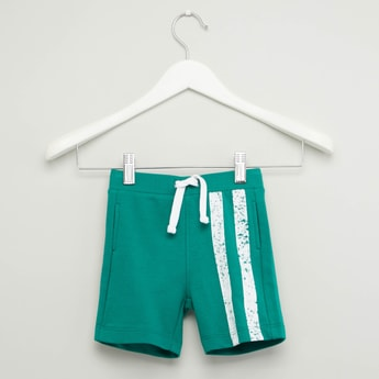 Stripe Detail Shorts with Drawstring Waistband