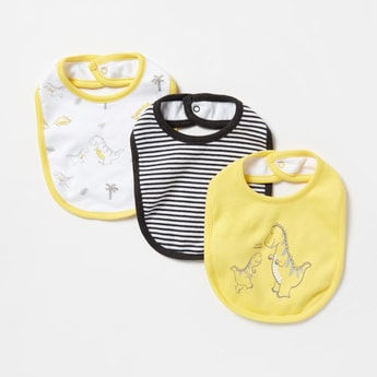Pack of 3 - Printed Bibs with Button Closure