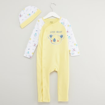 Koala Print Long Sleeves Sleepsuit with Cap