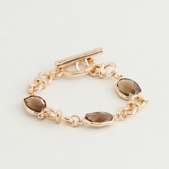 Embellished Bracelet with Toggle Clasp