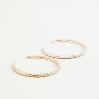 Set of 2 - Studded Cuff Bracelet