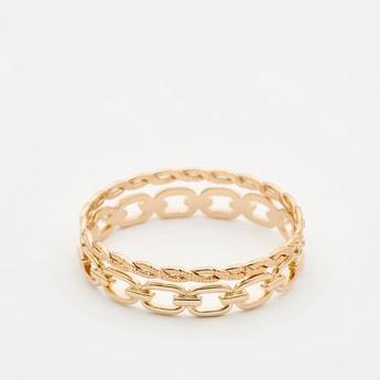 Set of 2 - Metallic Bracelets