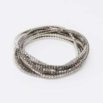 Set of 8 - Embellished Bracelets