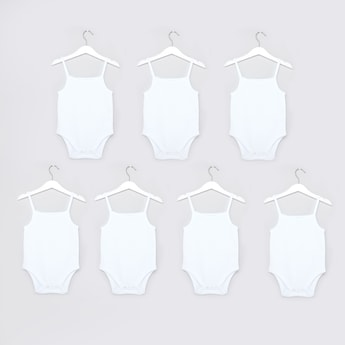 Set of 7 - Solid Bodysuits