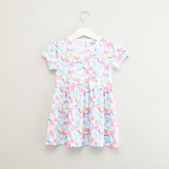 Floral Printed Dress with Short Sleeves
