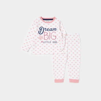 All-Over Print Long Sleeves T-shirt and Full Length Pyjama Set