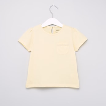 Plain T-shirt with Round Neck with Short Sleeves