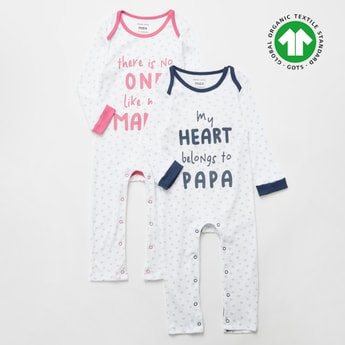 Set of 2 - All-Over Print Sleepsuit with Long Sleeves