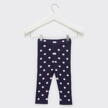 Comfort Fit Full Length Polka Dotted Sweater Leggings