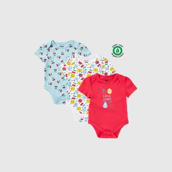Set of 3 - Printed Cotton Bodysuits