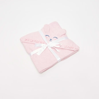All-Over Print Receiving Blanket with Applique Detail Hood