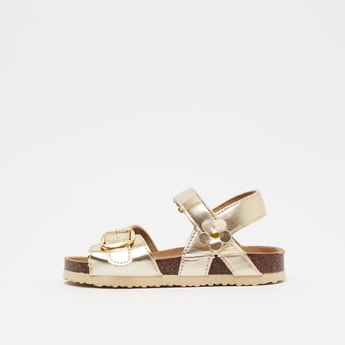 Ankle Strap Sandals with Buckle Detail