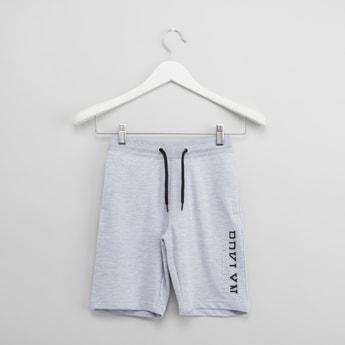 Printed Shorts with Drawstring Closure