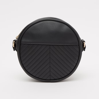 Textured Crossbody Bag with Strap