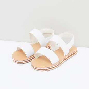 Dual Strap Sandals with Elasticised Backstrap