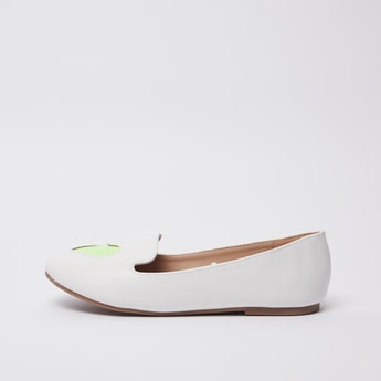 Slip-On Loafers with Cutwork Detail