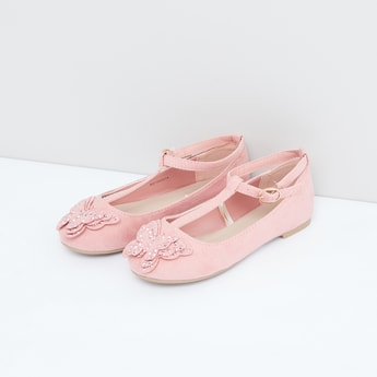 Applique Detail Shoes with Ankle Strap