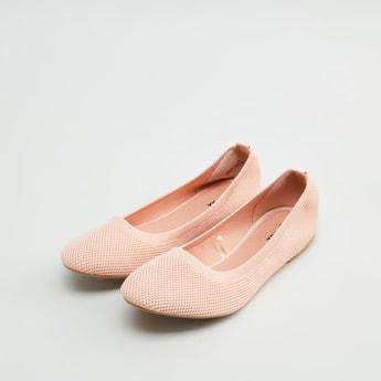 حذاء باليرينا مسطّح بارز الملمس
