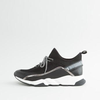 Plain Lace-Up Sports Shoes
