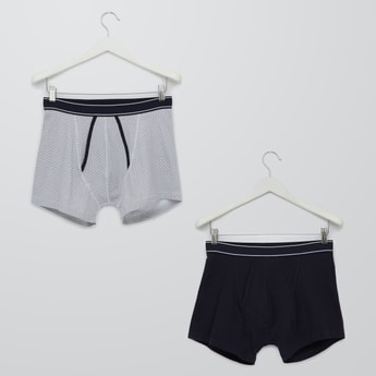 Set of 2 - Assorted Boxers with Elasticised Waistband