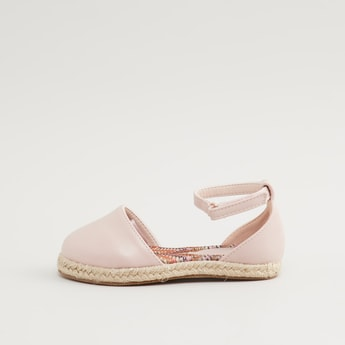 Ankle Strap Shoes with Hook and Loop Closure