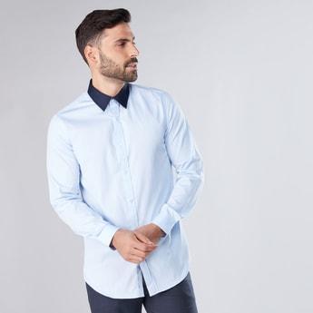 قميص رسمي بأكمام طويلة وطبعات