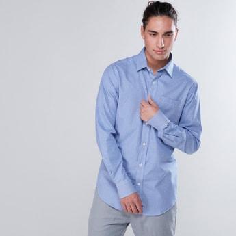 قميص رسمي كاروهات بأكمام طويلة