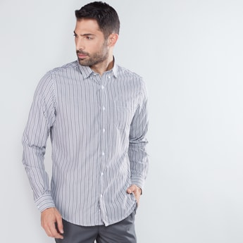 Striped Long Sleeves Shirt with Complete Placket