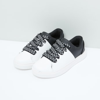 Polka Dots Lace-Up Shoes