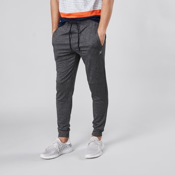 Textured Jog Pants with Pockets and Drawstring Waistband
