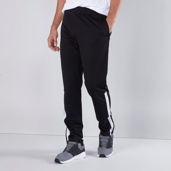 Full Length Track Pants with Tape Detail and Pockets