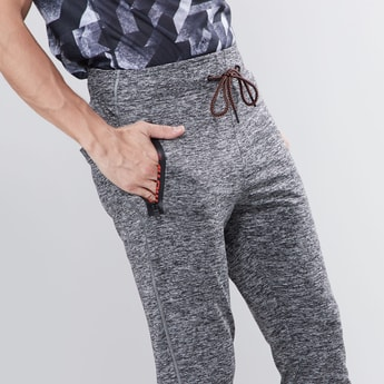 Slim Fit Printed Joggers with Drawstring Waistband