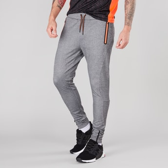 Textured Jog Pants with Pocket Detail and Drawstring