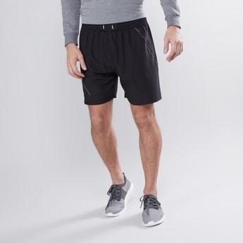 Knee Length Shorts with Drawstring Closure