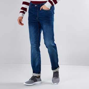 Full Length Jeans with Pocket Detail and Loops
