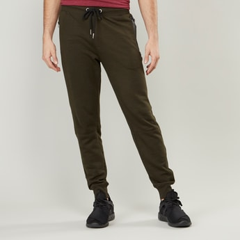Cuffed Joggers with Drawstring Waistband