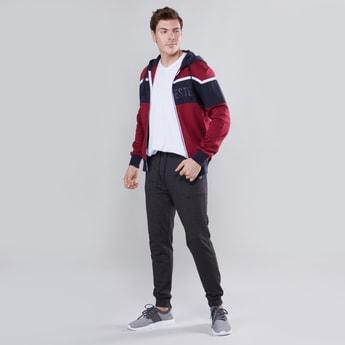 Slim Fit Full Length Plain Jog Pants with Pocket Detail and Drawstring