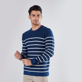 Striped Sweater with Long Sleeves