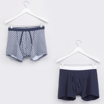 Set of 2 - Assorted Trunks with Elasticated Waistband