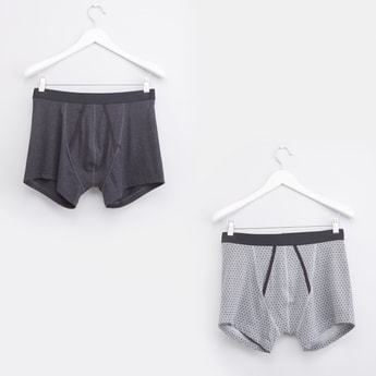 Set of 2 - A-front Boxer Briefs with Elasticised Waistband