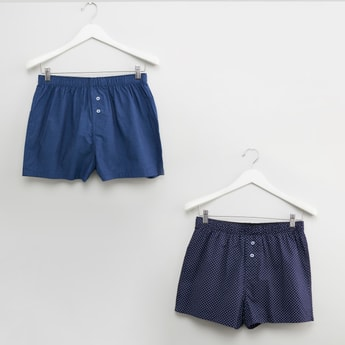 Set of 2- Assorted Boxers with Elasticised Waistband