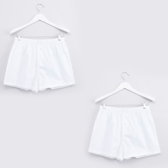 Set of 2 - Plain Boxer Briefs with Elasticised Waistband