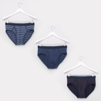 Set of 3 - Briefs with Elasticised Waistband