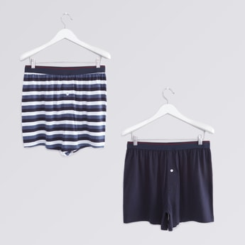 Set of 2- Assorted Boxers with Wide Elasticised Waistband