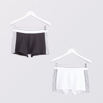 Set of 2 - Colourblocked Trunks with Wide Elasticised Waistband