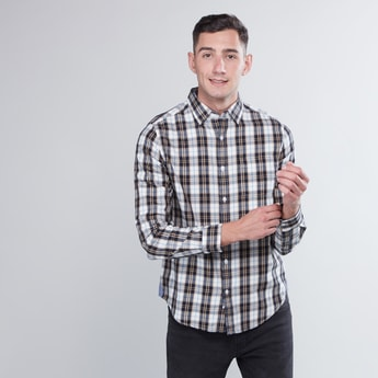 Checked Shirt with Roll Tab Sleeves and Complete Packet